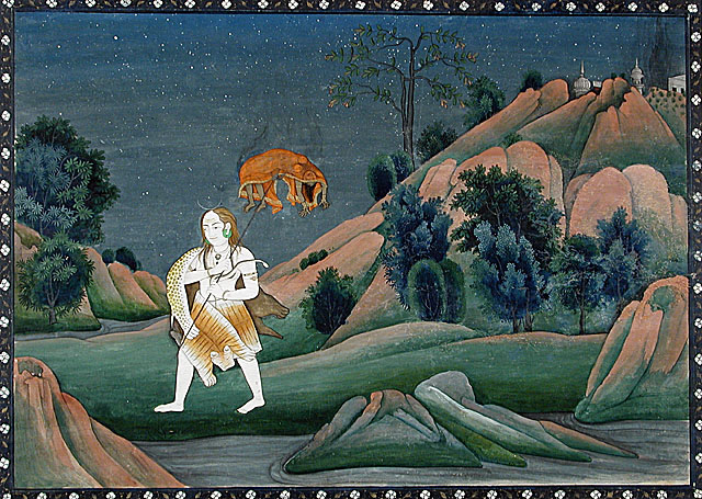 Shiva Carrying Sati on His Trident(1800年頃)