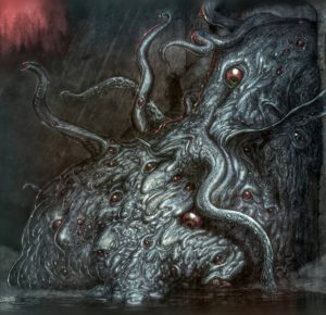 A Shoggoth. Nottsuo's artwork inspired by H .P. Lovecraft's short novel At the Mountains of Madness.