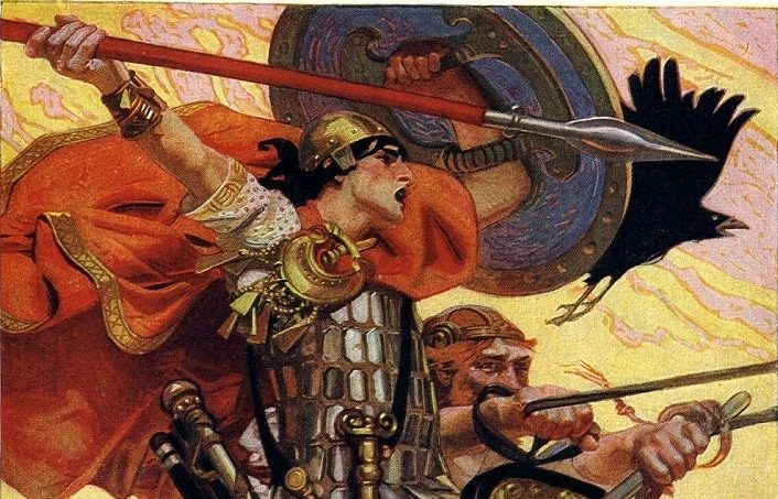 『Cuchulain in Battle』, J. C. Leyendecker, 1911年