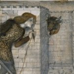 ラビリントスを進むテセウスとミノタウルス(Edward Burne Jones, Theseus_and_the_Minotaur_in_the_Labyrinth)