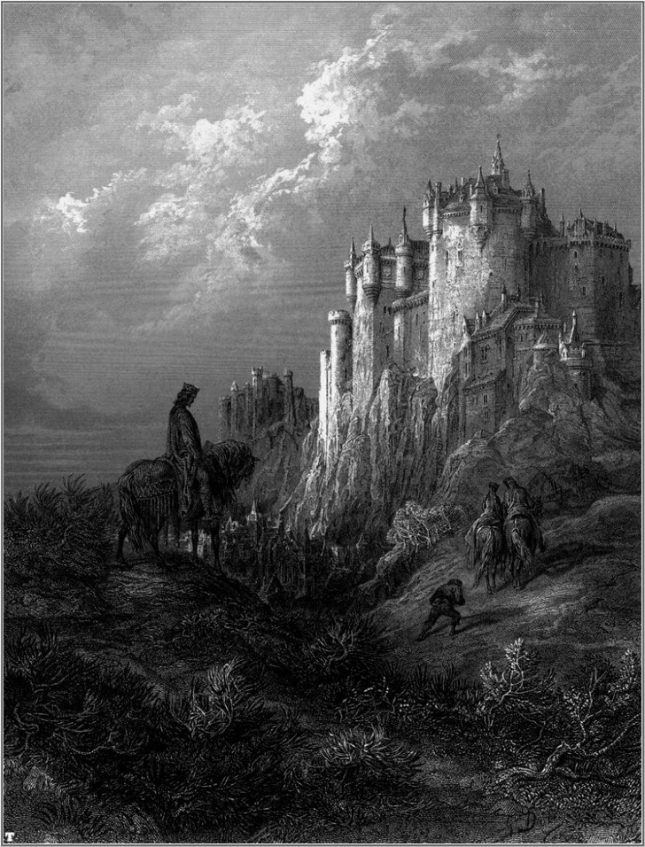 "キャメロット(ギュスターヴ・ドレ画、illustration of Camelot from ""Idylls of the King"")"